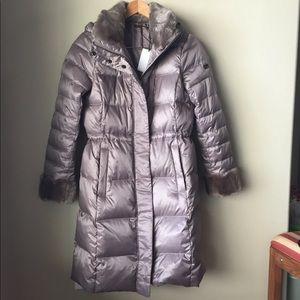DVF poppy coat, taupe